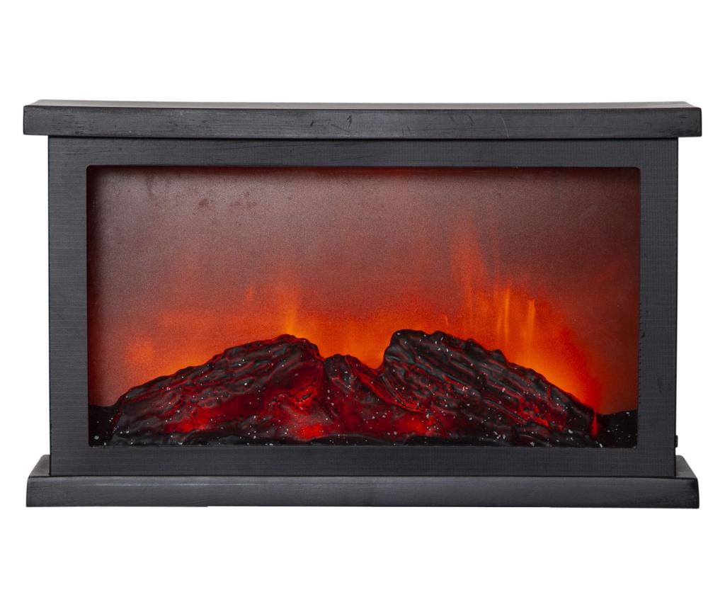 Felinar cu LED Fireplace - Best Season, Negru