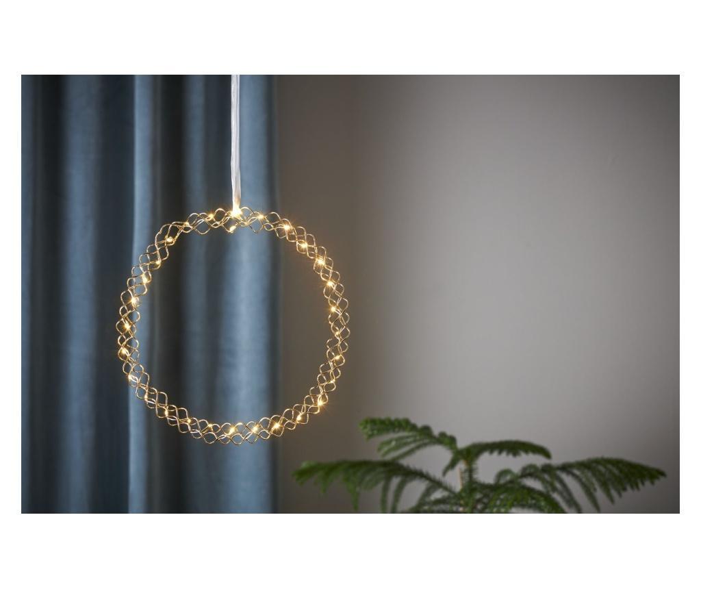 Decoratiune suspendabila cu LED Hoop - Best Season, Galben & Auriu