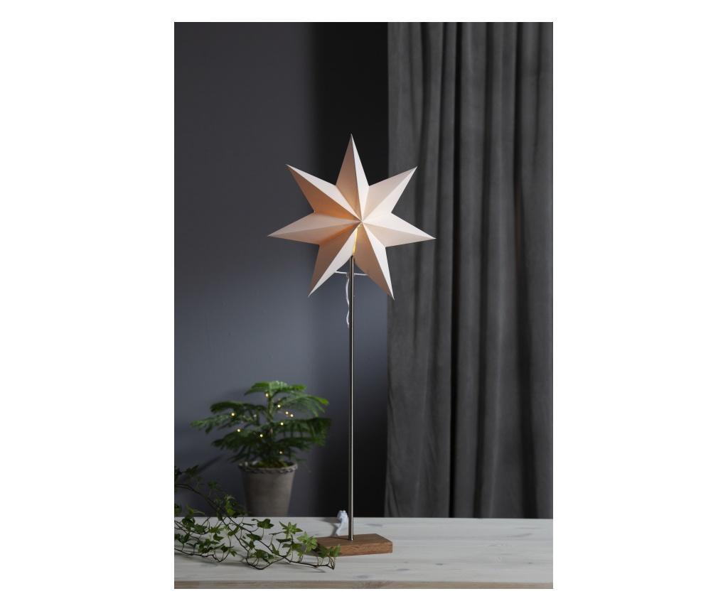 Set baza decoratiune luminoasa cu 2 abajururi Moa - Best Season, Alb,Maro
