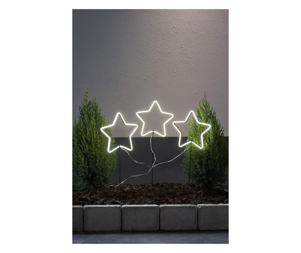 Set 3 decoratiuni cu LED-uri Neonstar - Best Season, Alb