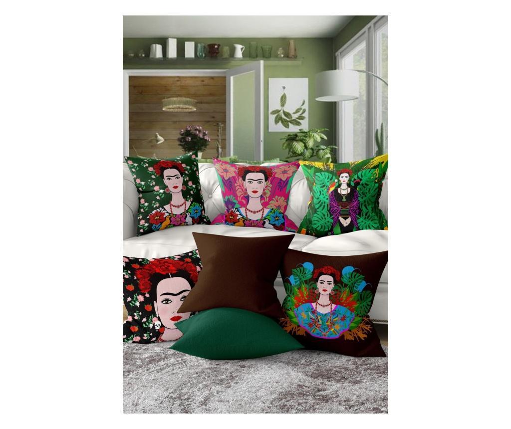 Sada 7 povlaků na polštáře All About Frida Kahlo