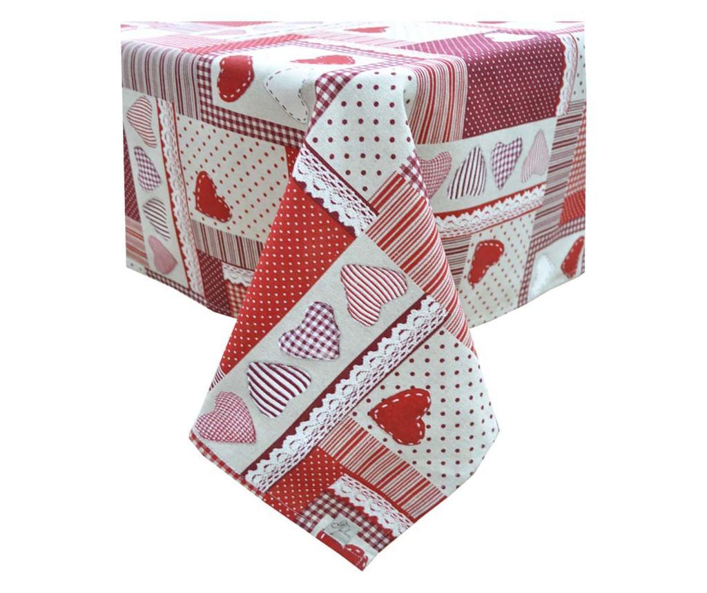Fata de masa Lace 136x136 cm - textile4home, Rosu vivre.ro