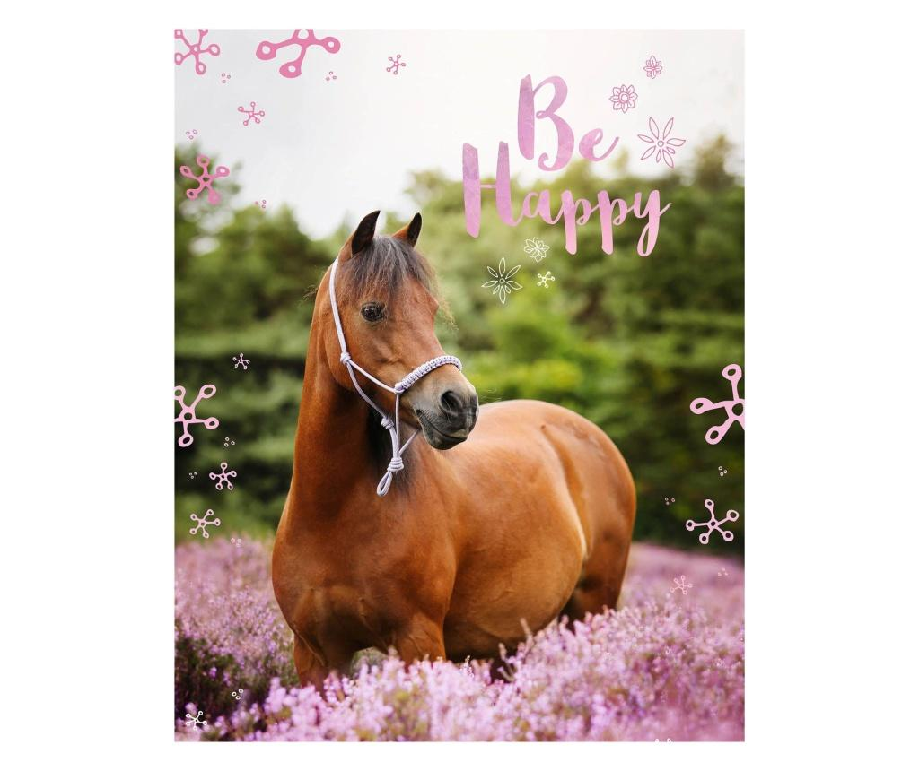 Patura Horse 120x150 cm Sweet home, poliester, multicolor - Sweet home, Multicolor imagine