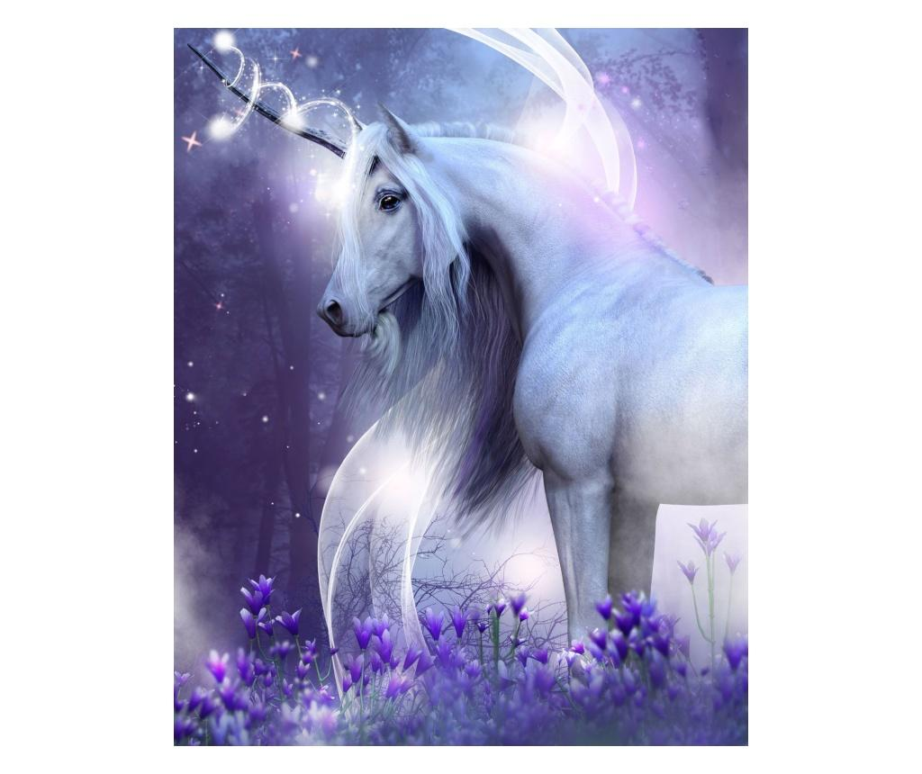 Patura Unicorn 120x150 cm Sweet home, poliester, multicolor - Sweet home, Multicolor imagine