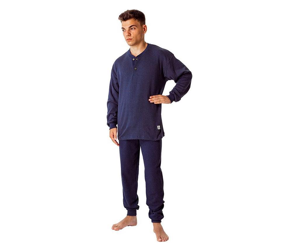 Pijama barbati Jaquard 3XL - a.apunto, Albastru poza