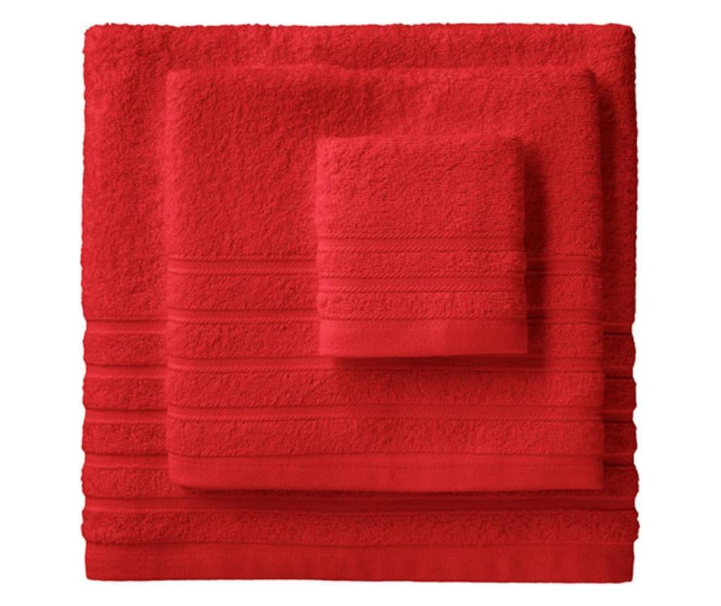 Set 2 prosoape de baie 100x150 cm BARCELO, bumbac, rosu - BARCELO, Rosu imagine