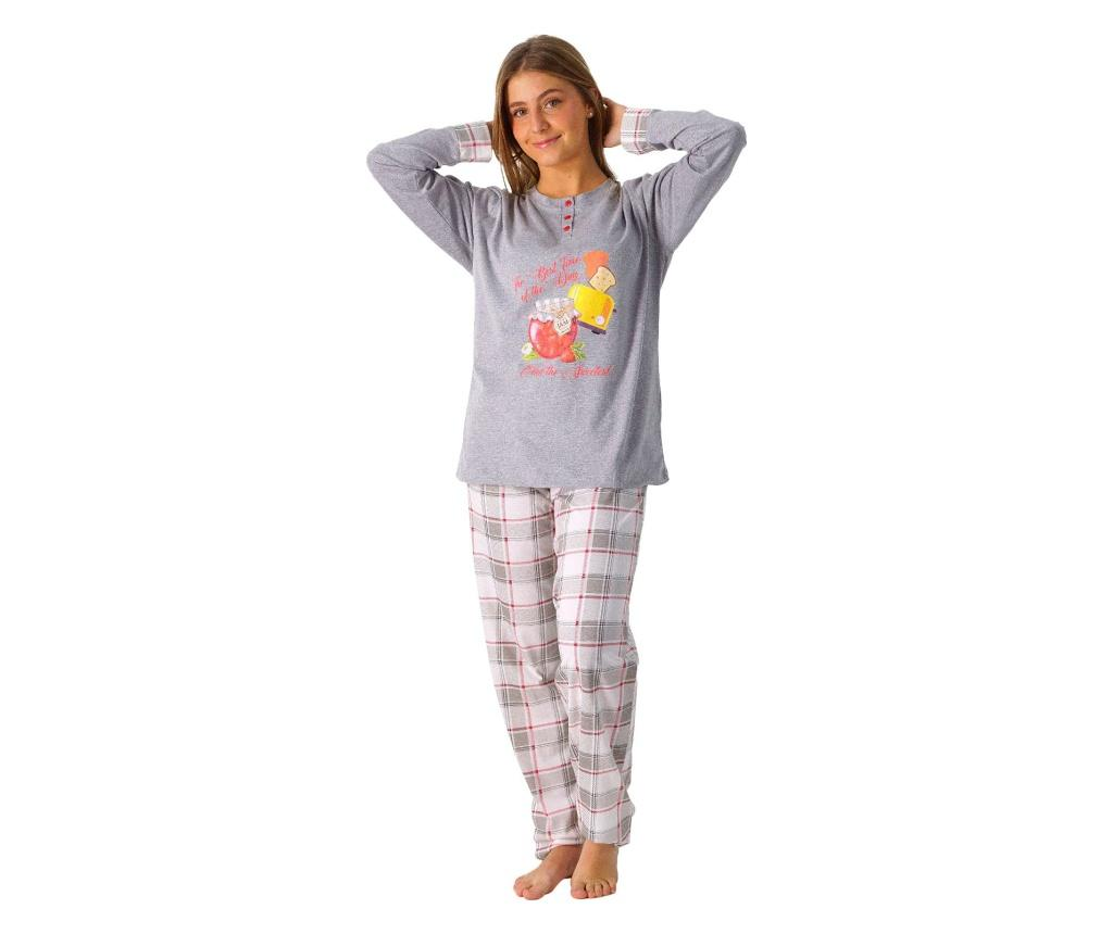 Pijama dama XL - LENNISS, Gri & Argintiu imagine