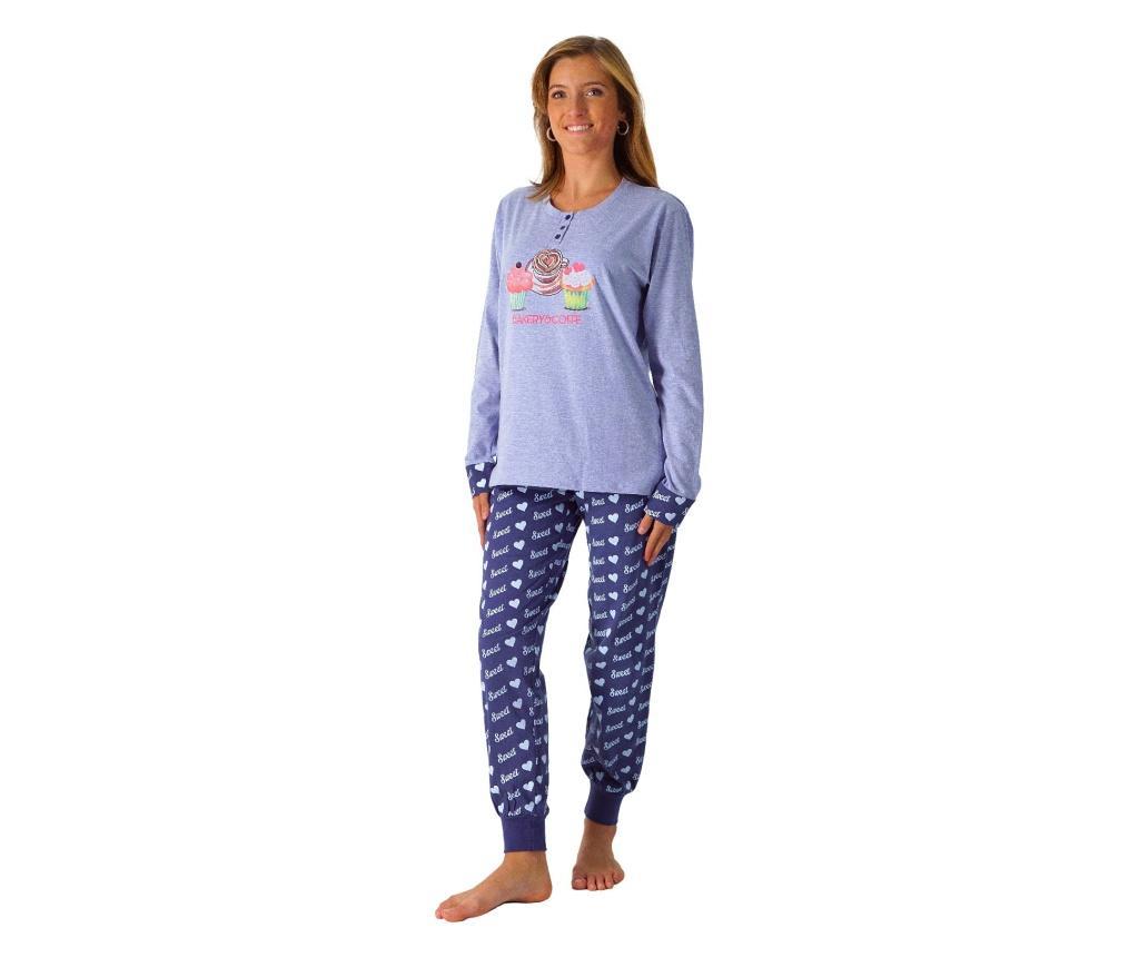 Pijama dama L - LENNISS, Albastru imagine