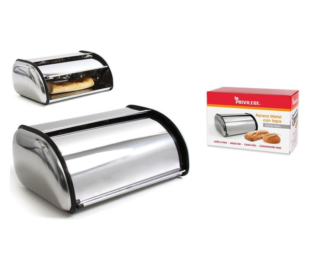 Cutie pentru paine S - PRIVILEGE, Gri & Argintiu imagine