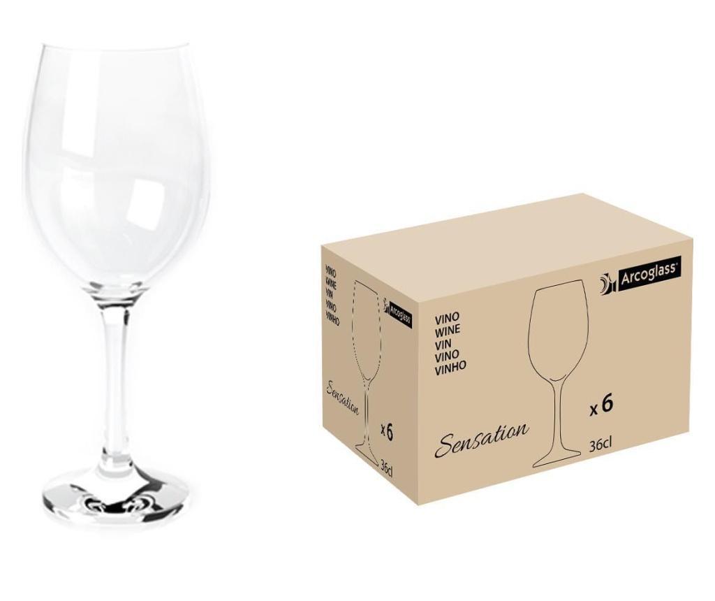 Set 6 pahare pentru vin - LAV, Alb poza