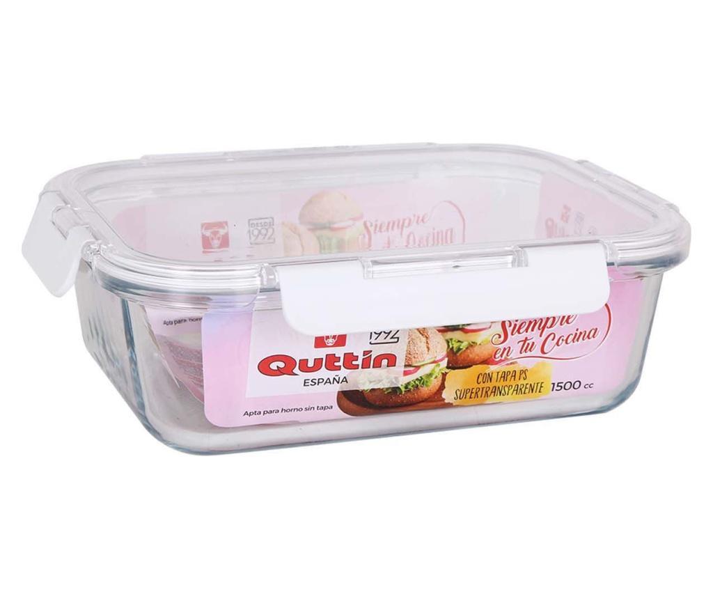 Cutie pentru pranz cu capac etans - QUTTIN, Alb imagine
