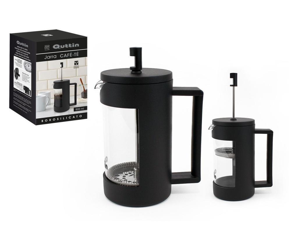Presa cafea si ceai 800 ml - QUTTIN, Negru imagine