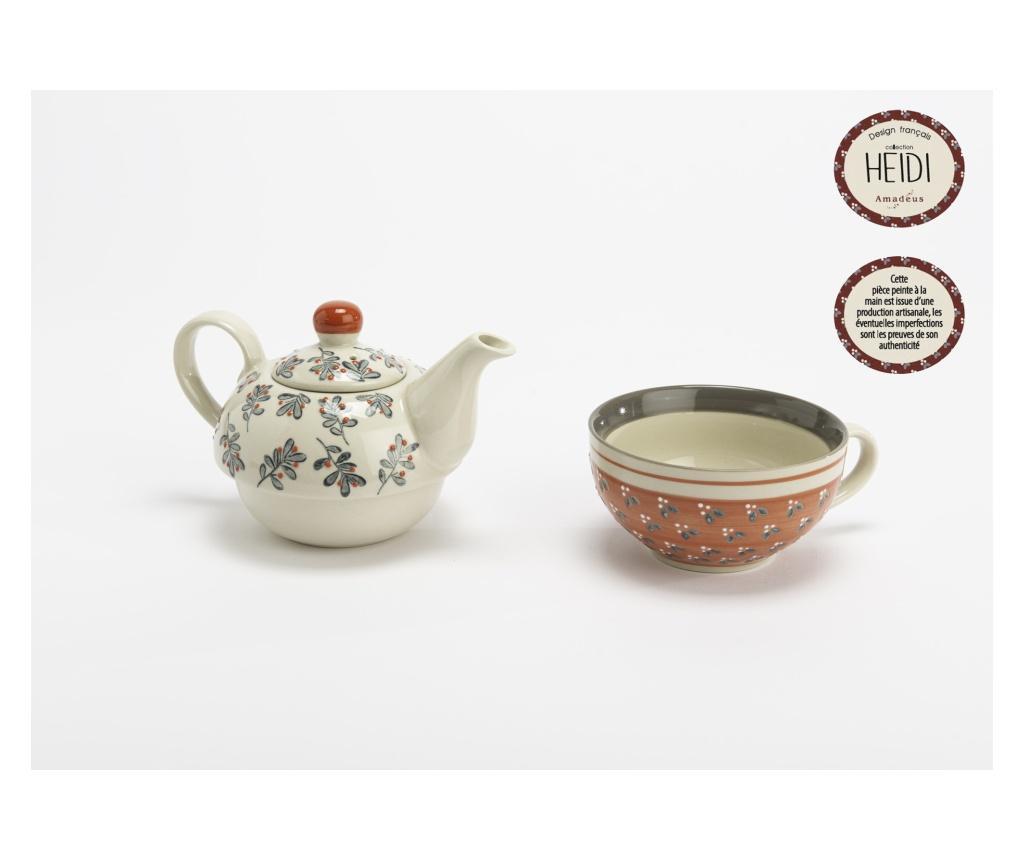 Ceainic si ceasca - Amadeus, Portocaliu imagine