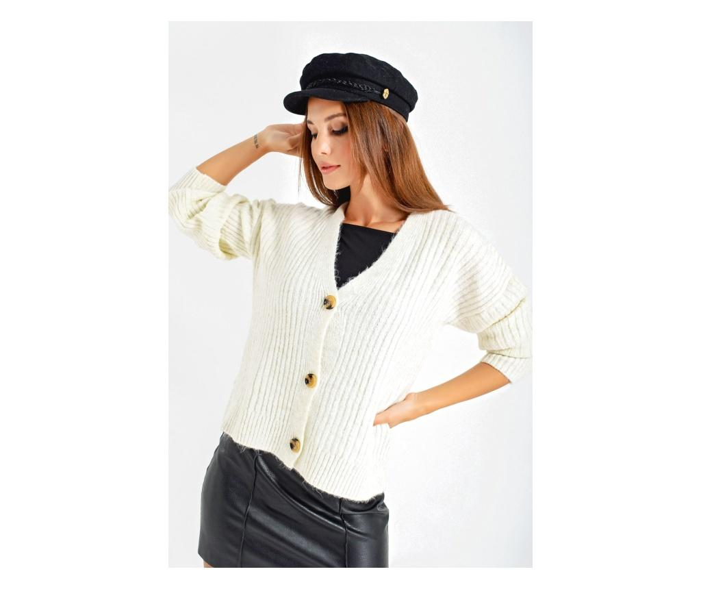 Cardigan dama one size - By Saygi, Crem imagine