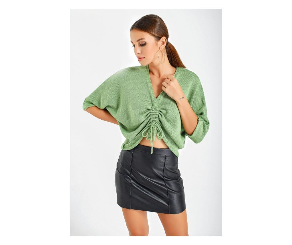 Pulover dama one size - By Saygi, Verde imagine