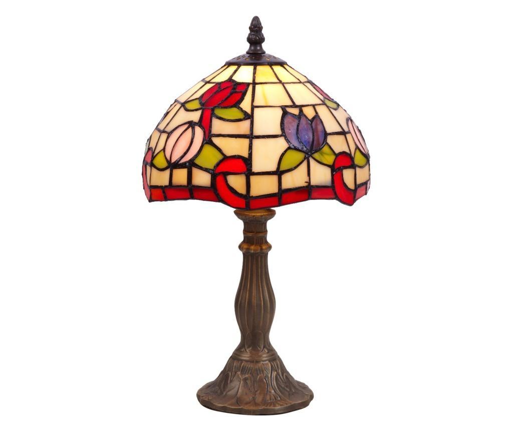 Lampa de masa Tiffany - Tiffan y Luz, Alb imagine