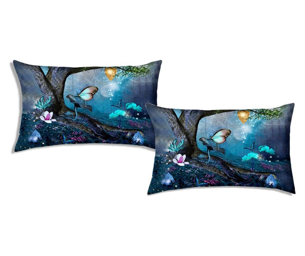 Set 2 fete de perna Fantasy Dreamland 50x80 cm, Polo Ovest, bumbac, multicolor - Polo Ovest, Albastru imagine