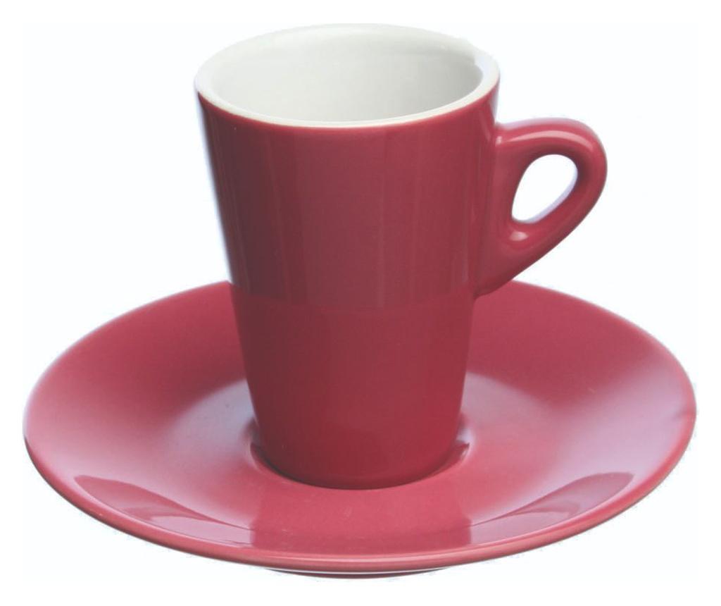 Set 6 cesti si 6 farfurioare pentru cafea Elegant - Tognana, Roz poza