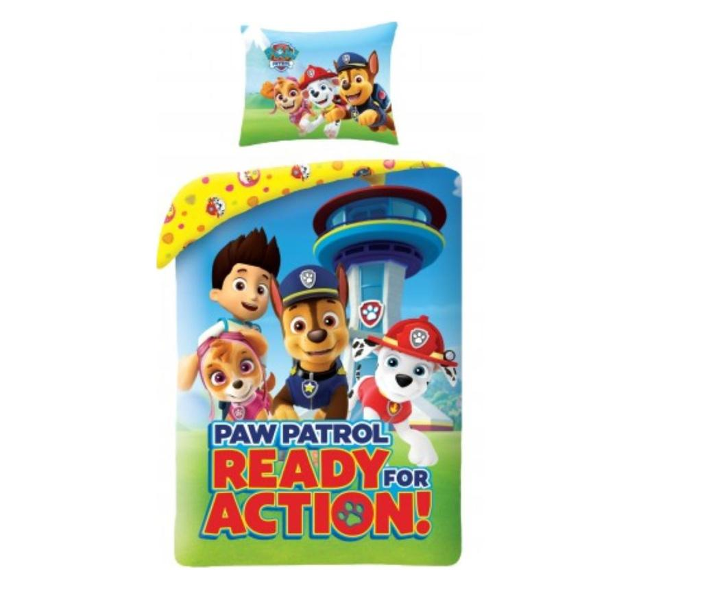 Set de pat Single Ranforce Paw Patrol, PAW Patrol, bumbac ranforce, multicolor - PAW Patrol, Multicolor imagine