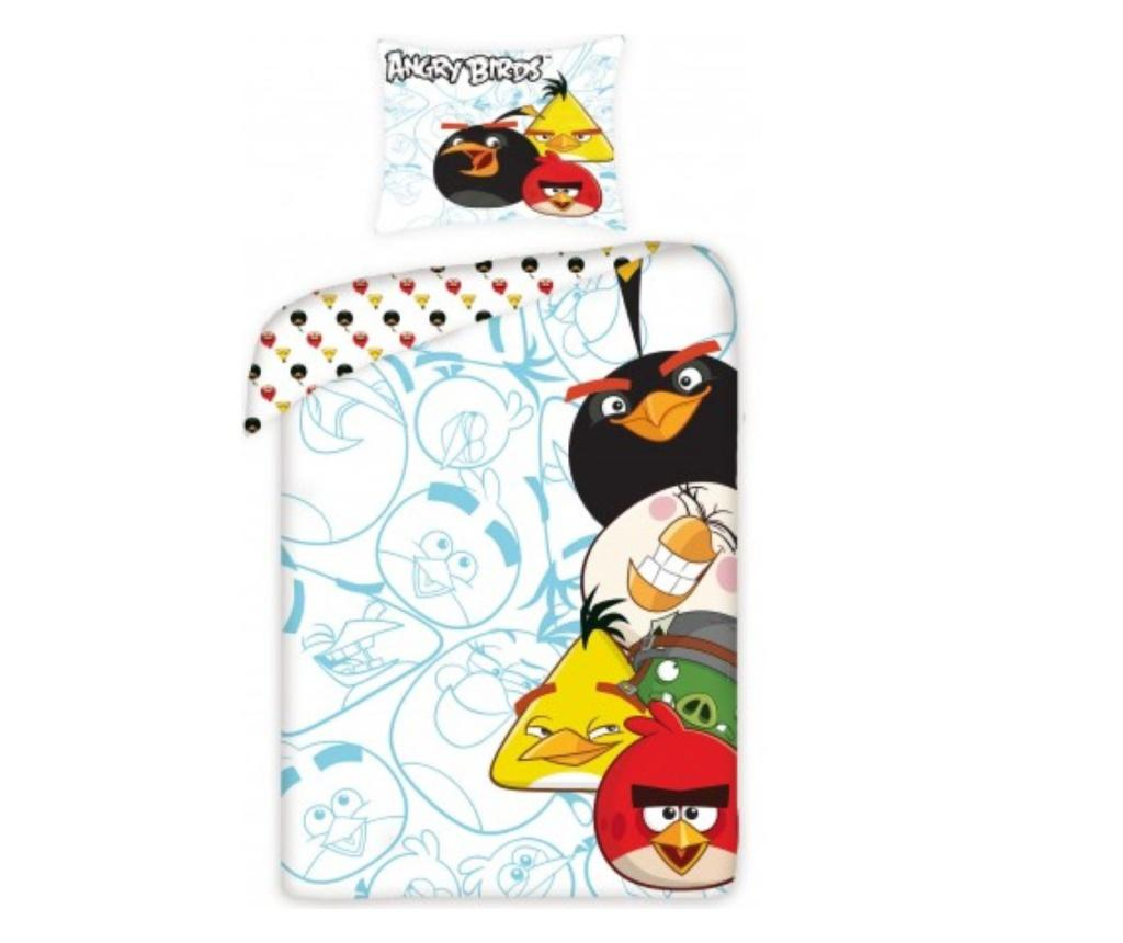 Set de pat Single Ranforce Angry Birds, bumbac ranforce, multicolor - Angry Birds, Multicolor imagine