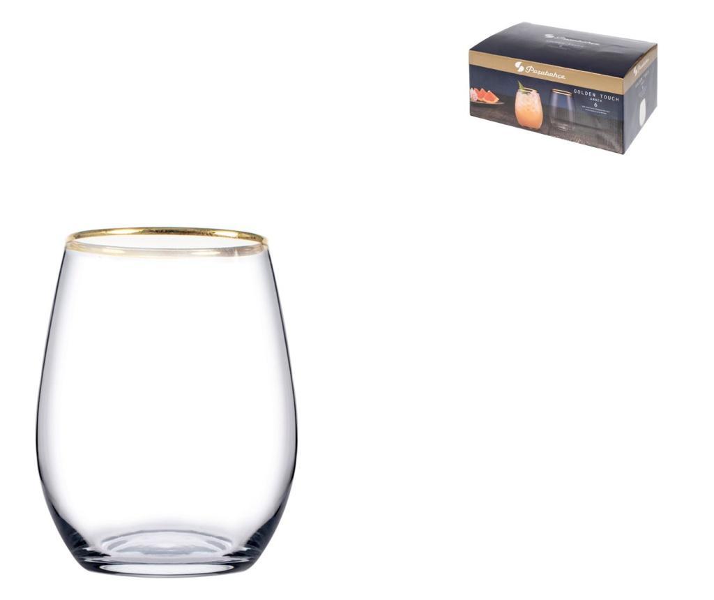 Set 6 pahare Amber 350 ml - Paşabahçe, Alb imagine