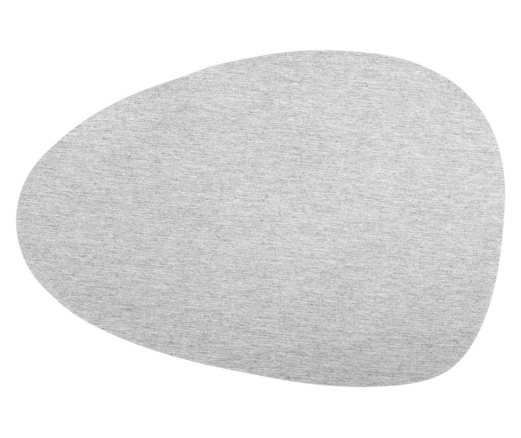 Set 6 suporturi pentru farfurii Menhir 30x43 cm - H&H, Gri & Argintiu imagine vivre.ro