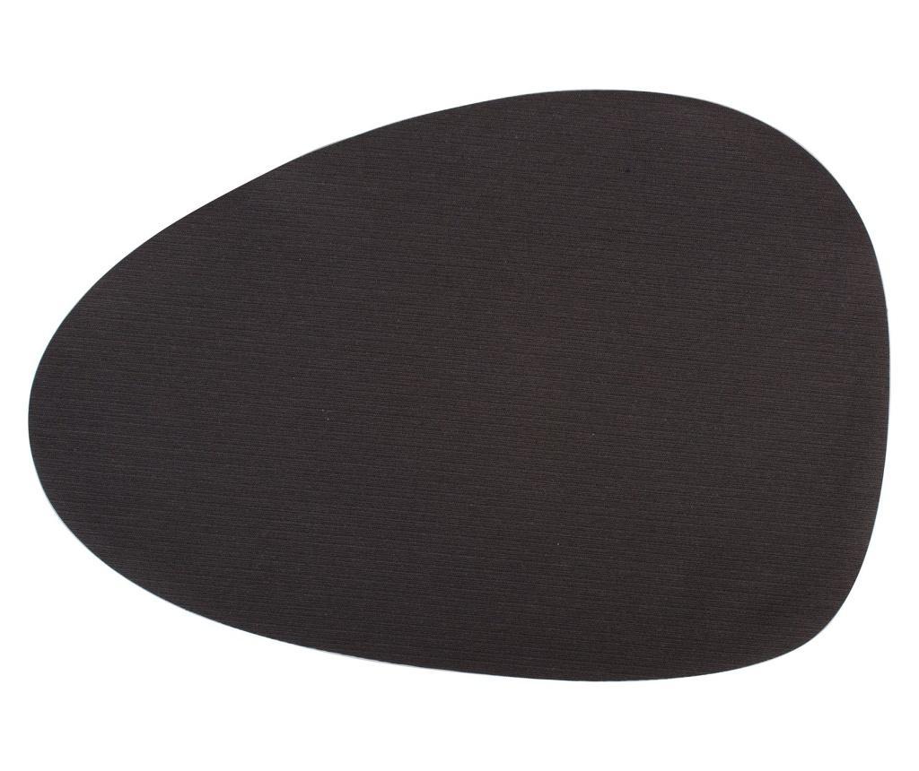 Set 6 suporturi pentru farfurii Menhir 30x43 cm - H&H, Negru poza noua