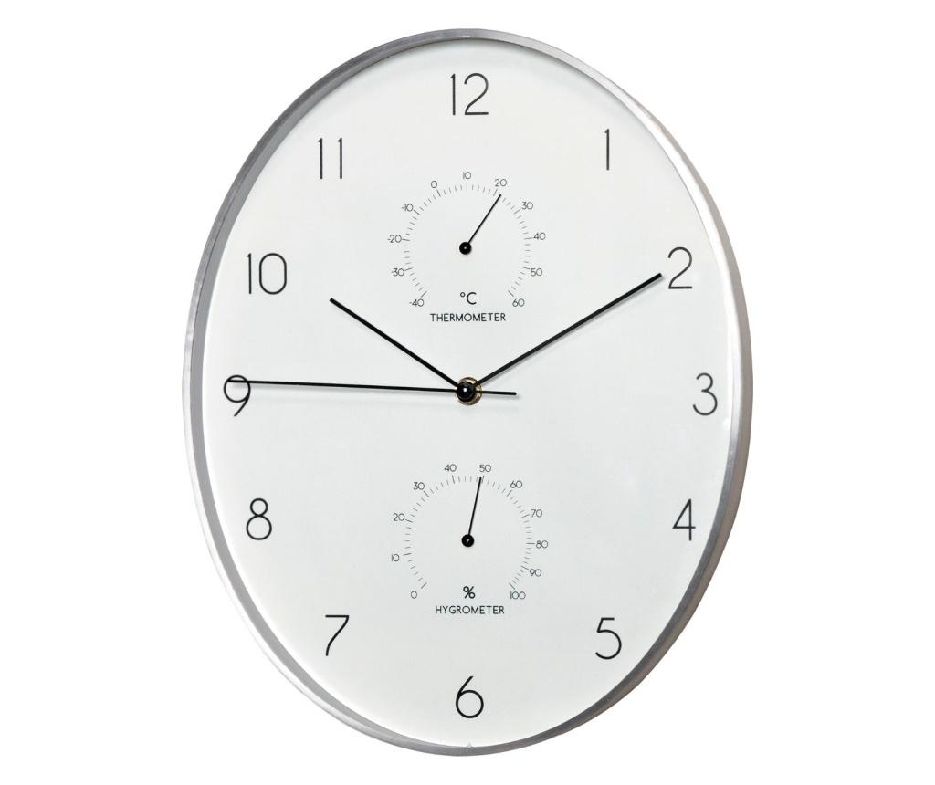 Ceas de perete - Andrea House, Gri & Argintiu poza