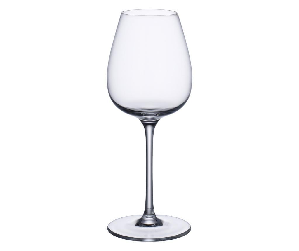 Set 4 pahare cu picior Purismo Wine 400 ml - Villeroy & Boch, Alb