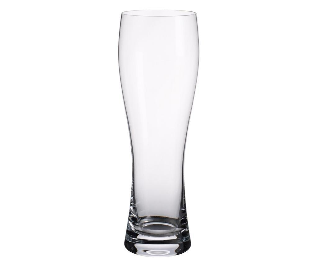 Set 4 pahare pentru bere Purismo Beer 400 ml - Villeroy & Boch, Alb imagine