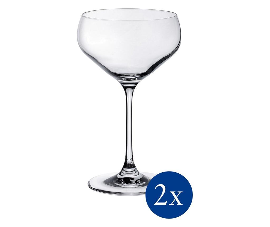 Set 2 pahare pentru sampanie Purismo Bar 380 ml - Villeroy & Boch, Alb poza