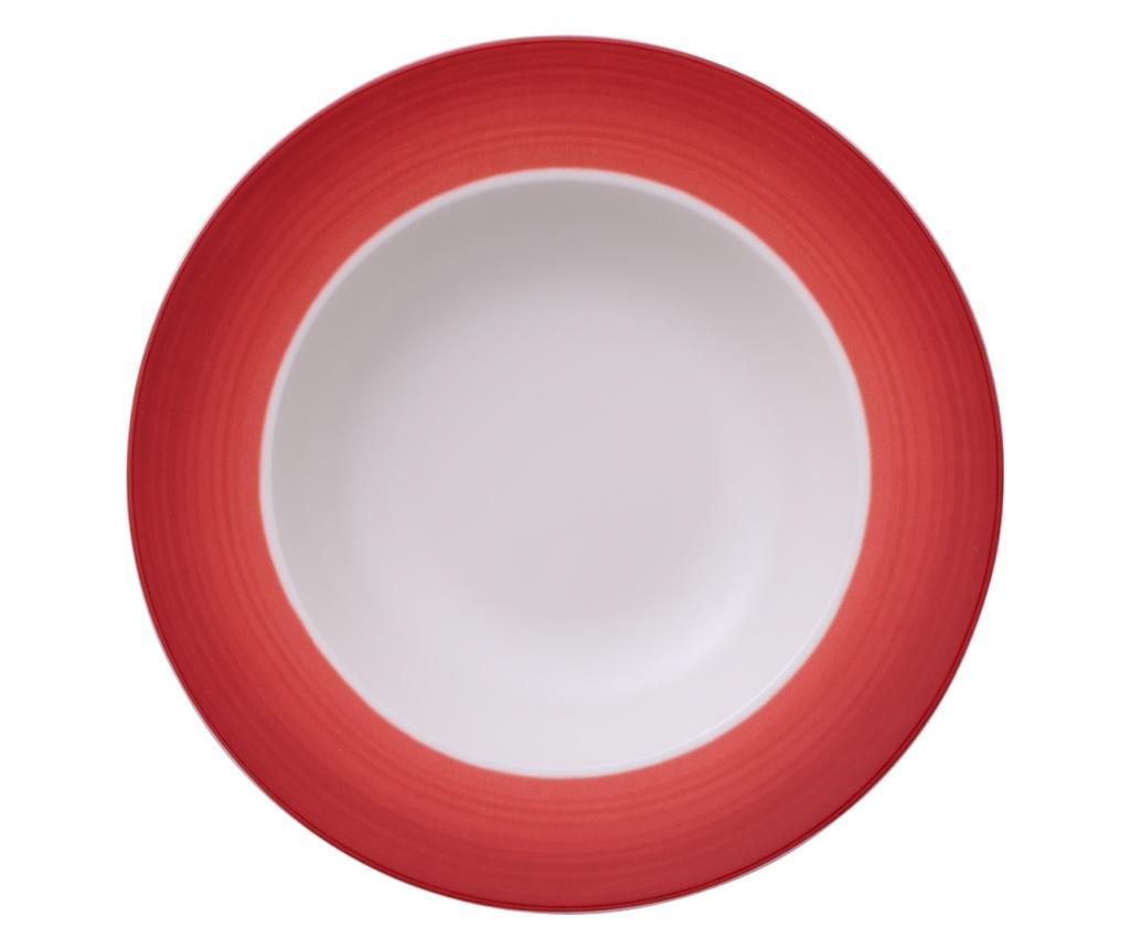 Set 6 farfurii adanci Colourful Life Deep Red - Villeroy & Boch, Rosu
