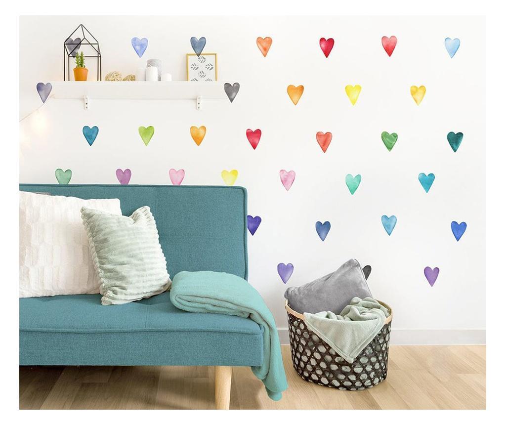 Set 35 stickere decorative de perete - Evila Originals, Multicolor vivre.ro