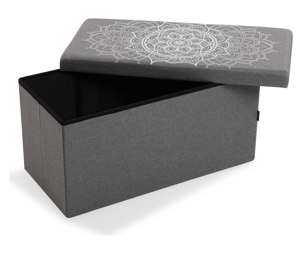 Bancheta Mandala - Versa, Gri & Argintiu imagine