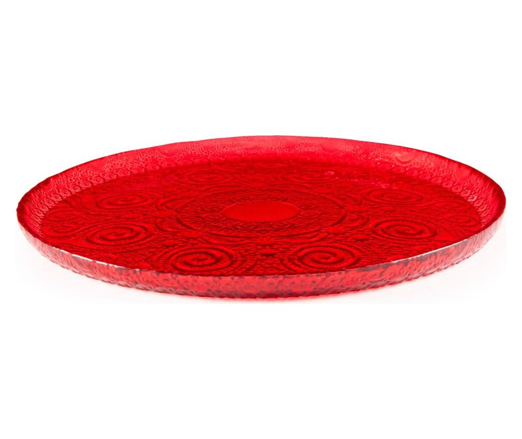 Farfurie pentru desert Red Arabesque - Excelsa, Rosu