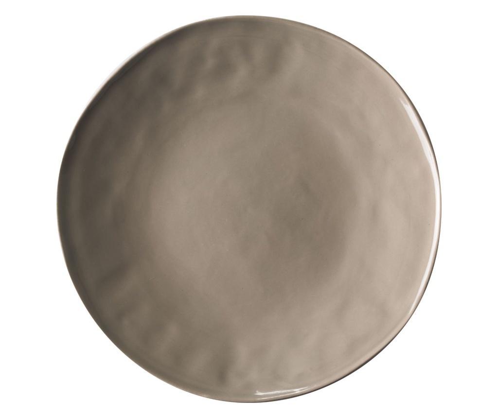 Set 4 farfurii intinse - Novita Home, Gri & Argintiu