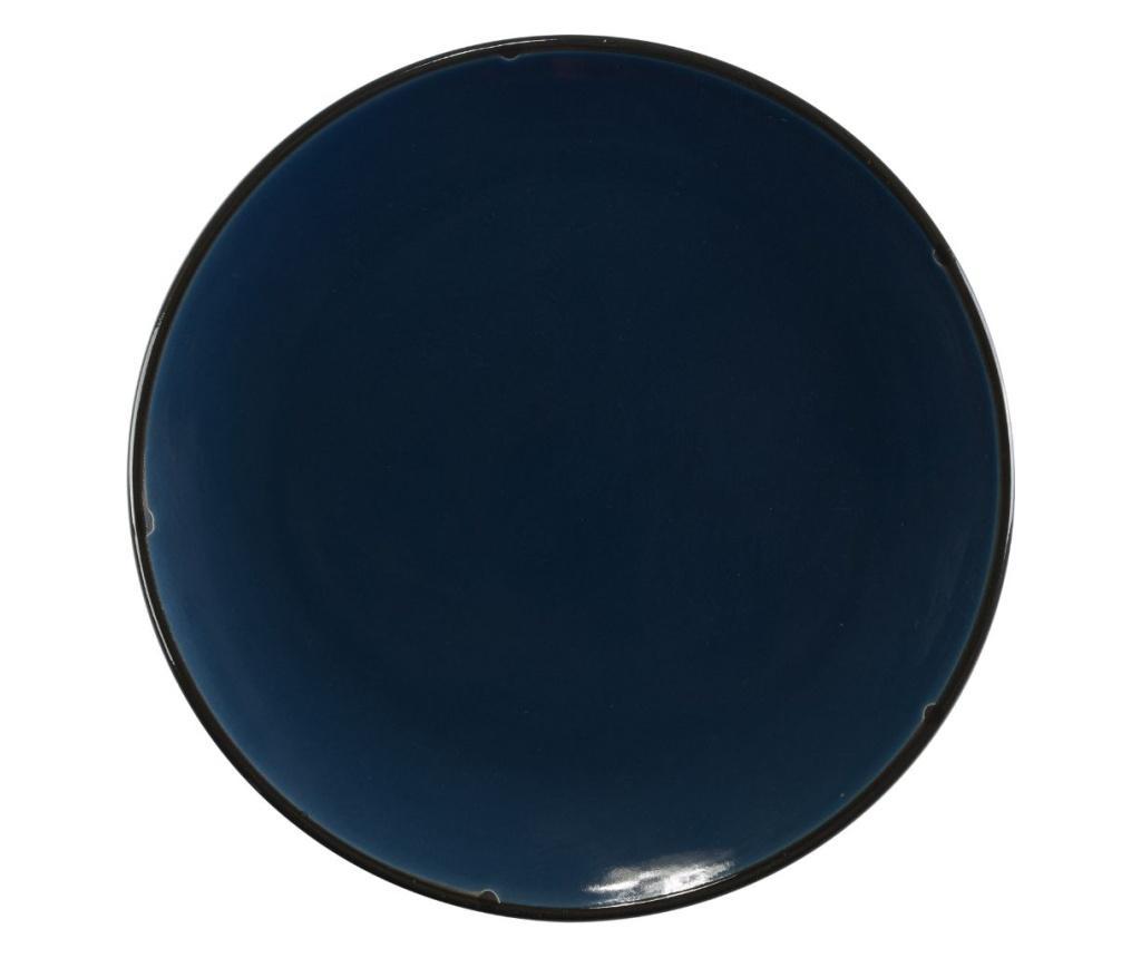 Set 4 farfurii pentru desert - Novita Home, Albastru