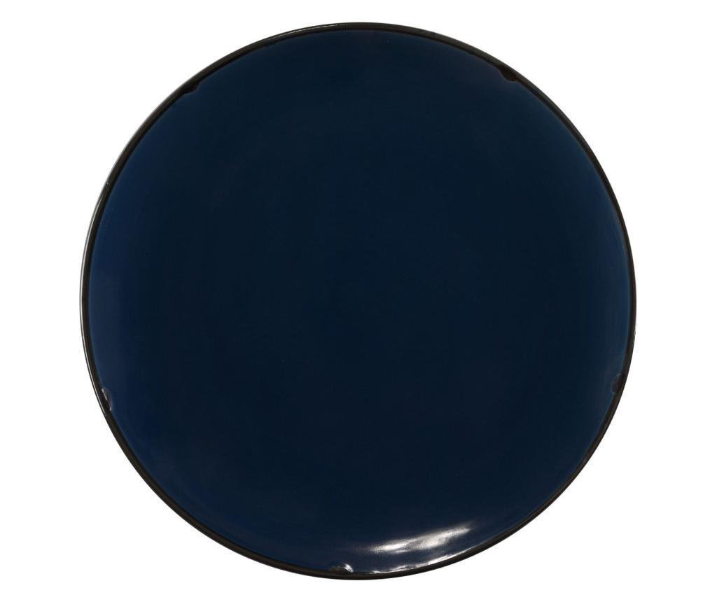Set 4 farfurii intinse - Novita Home, Albastru