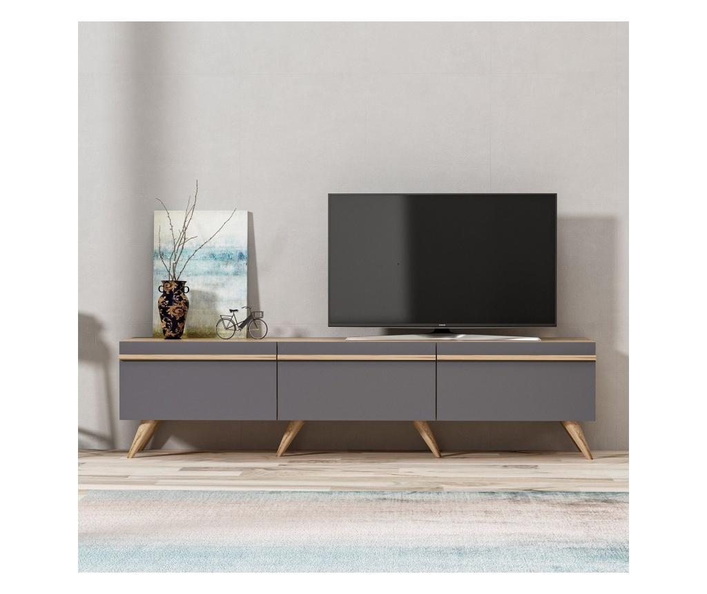 Comoda TV - Inarch, Gri & Argintiu imagine