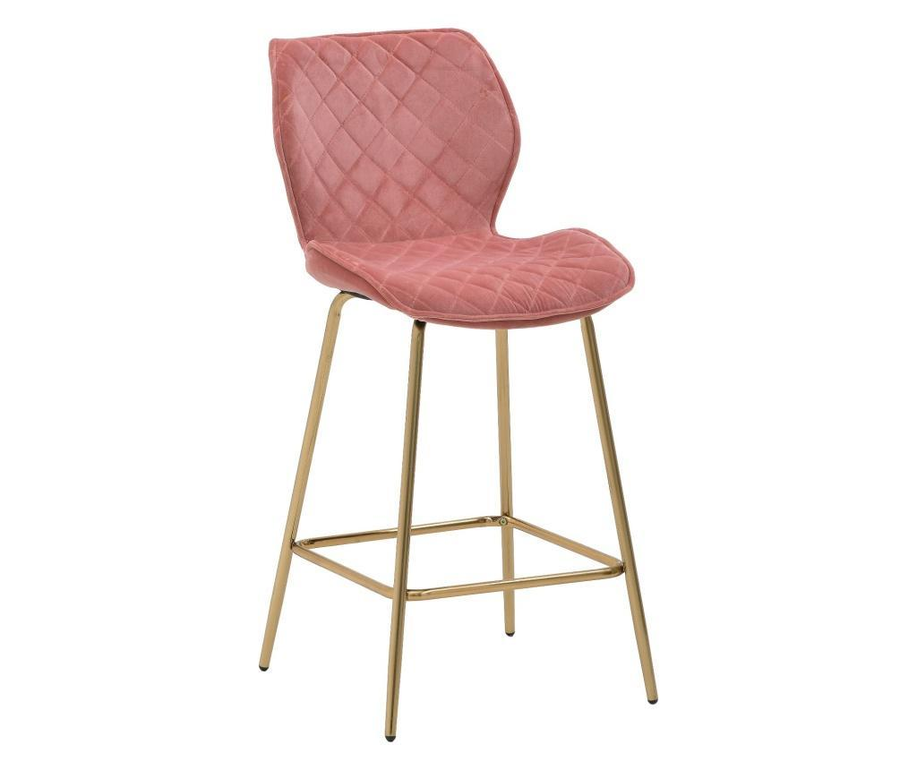Scaun de bar Velvet Pink - inart, Roz imagine