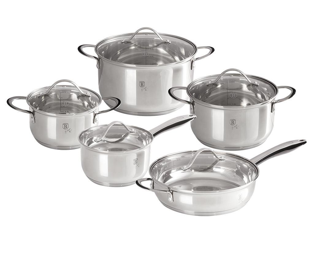 Sada nádobí na vaření 10 dílů Silver Jewelry