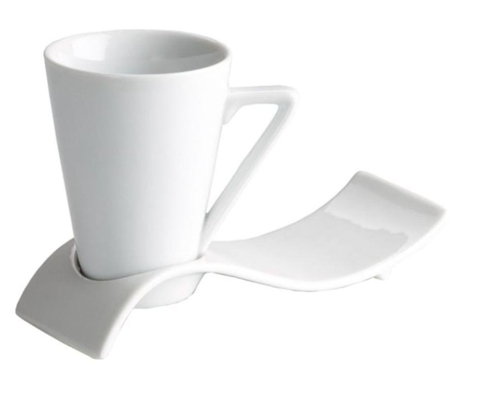 Set 6 cesti pentru espresso cu farfurioare - VIEJOVALLE, Alb vivre.ro