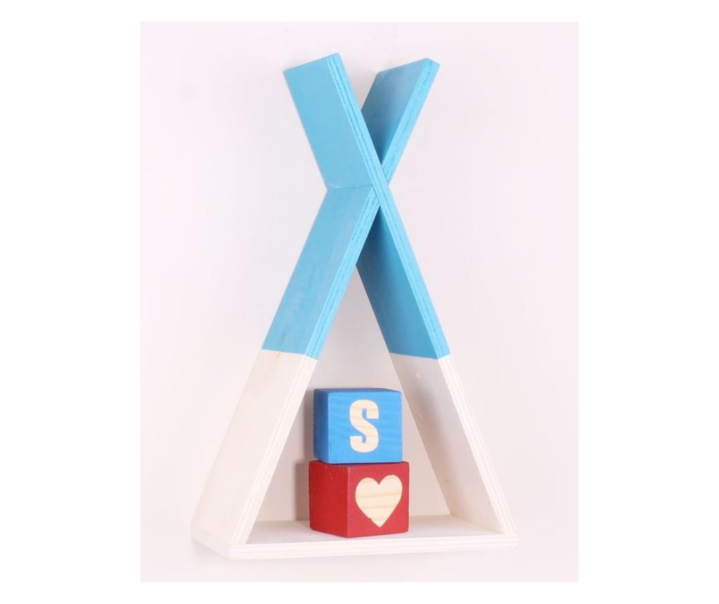 Raft de perete pentru copii Blue - Nordeco, Albastru vivre.ro