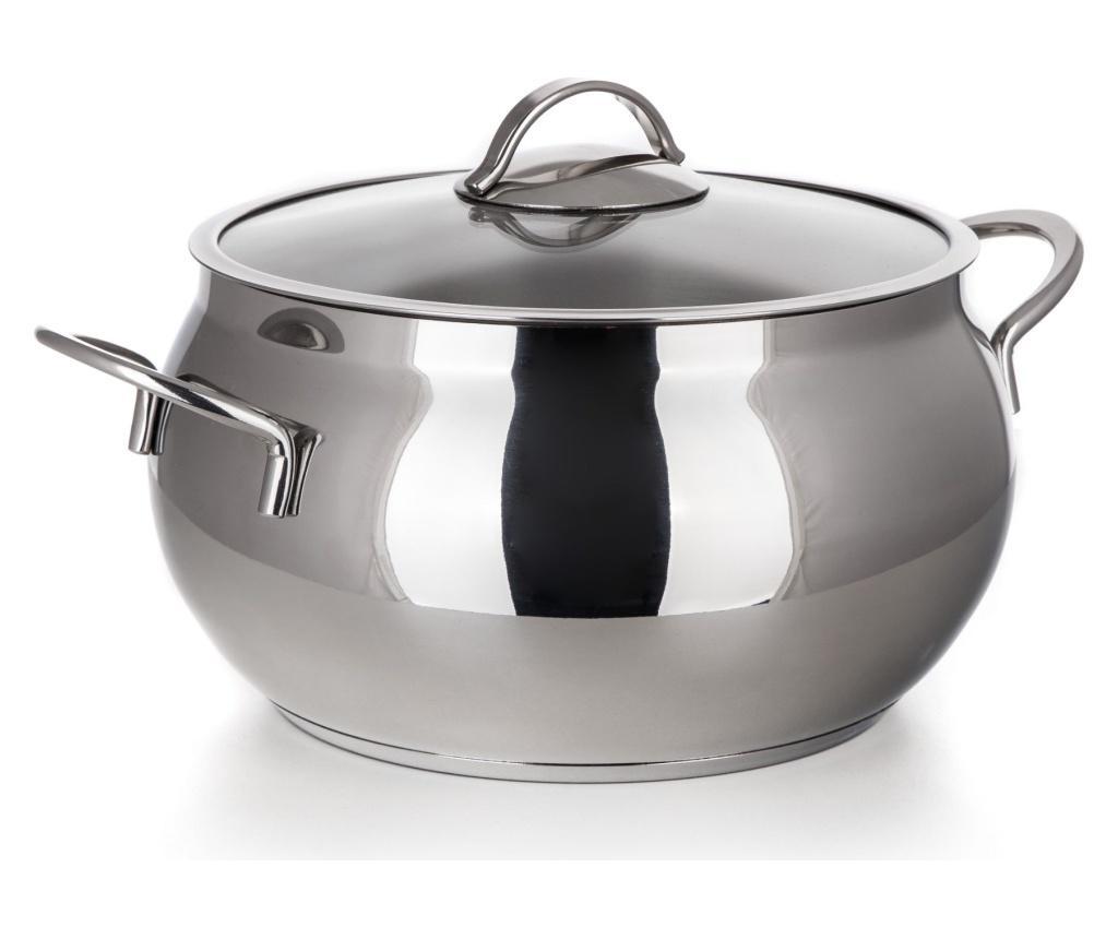 Oala cu capac Vista 7.8 L - Banquet, Gri & Argintiu