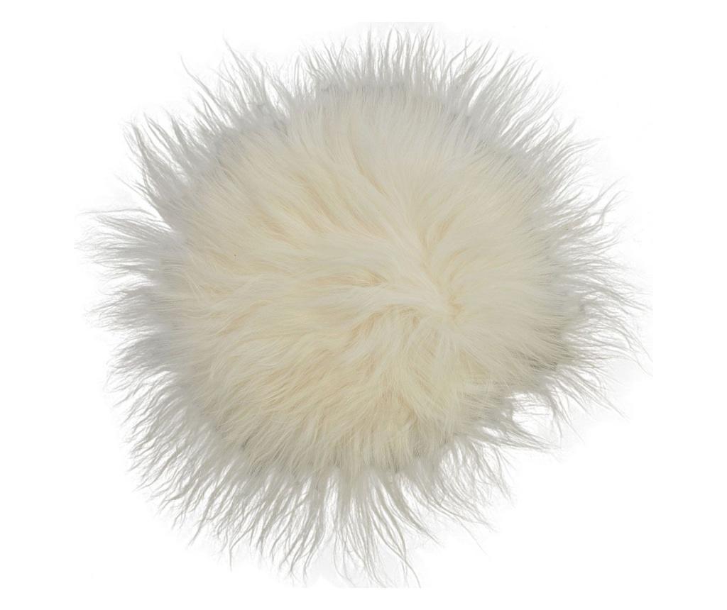 Perna de sezut Icelandic 40x40 - Arctic Fur, Alb imagine