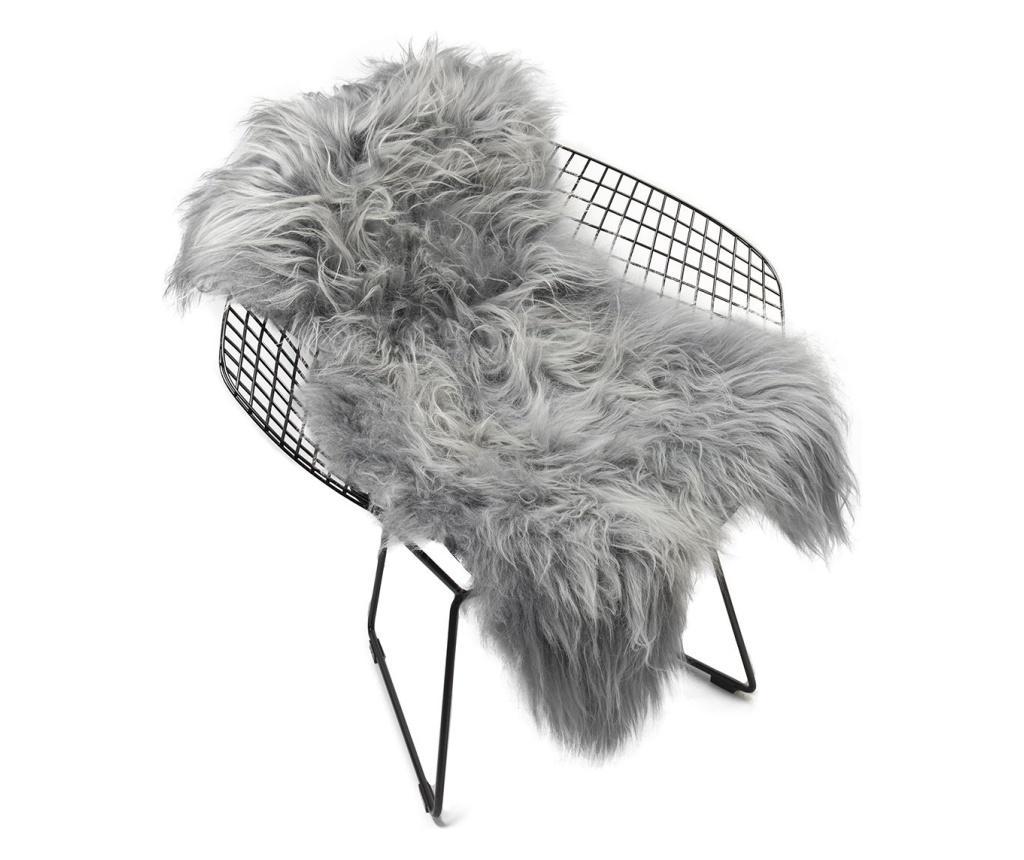 Covor Icelandic 110x60 - Arctic Fur, Gri & Argintiu imagine