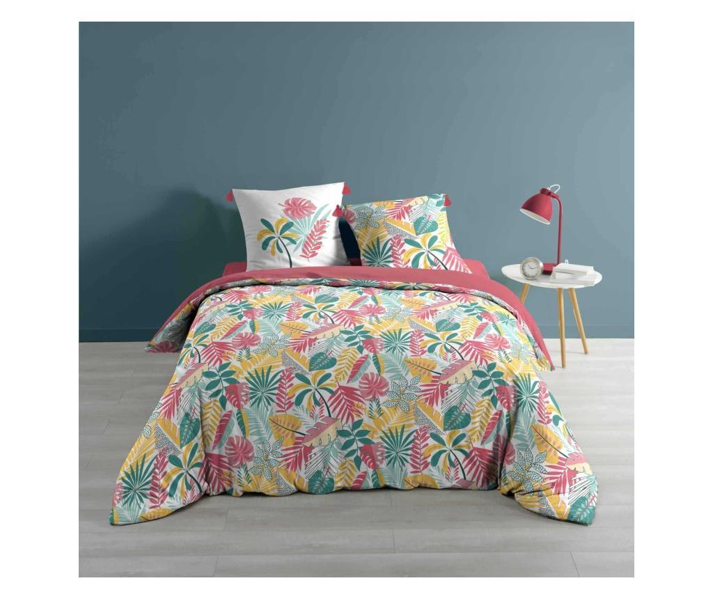 Set de pat Double Pinky - douceur d'intérieur, Multicolor imagine vivre.ro