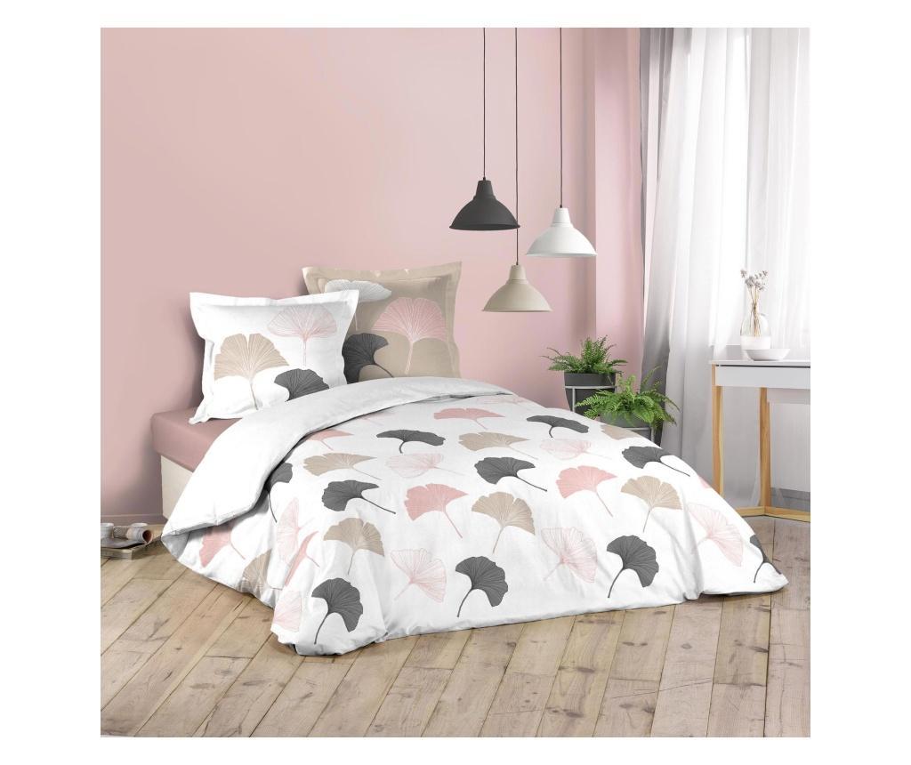 Set de pat Double Biloba - douceur d'intérieur, Multicolor vivre.ro