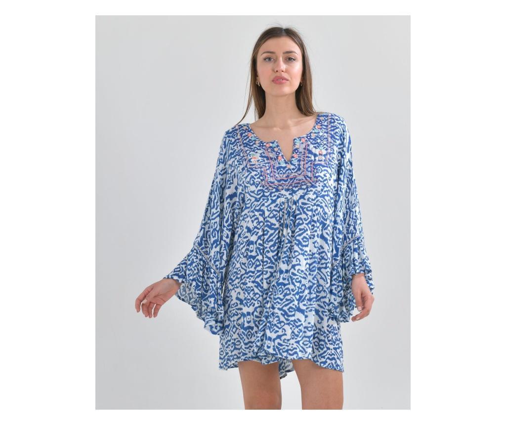 Rochie dama S-M, Ble, albastra, alba - Ble, Albastru