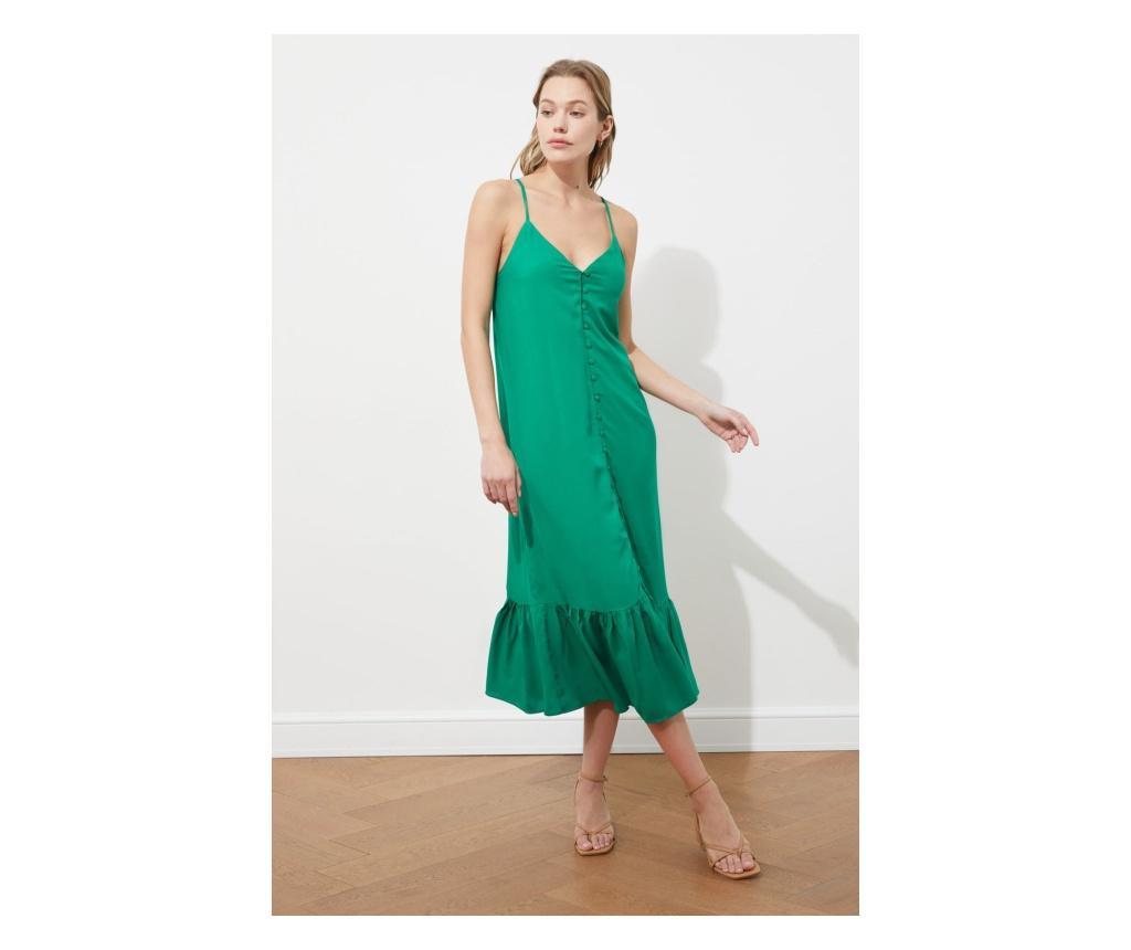 Rochie dama Metrodora M, Trendyol, viscoza, verde - Trendyol, Verde